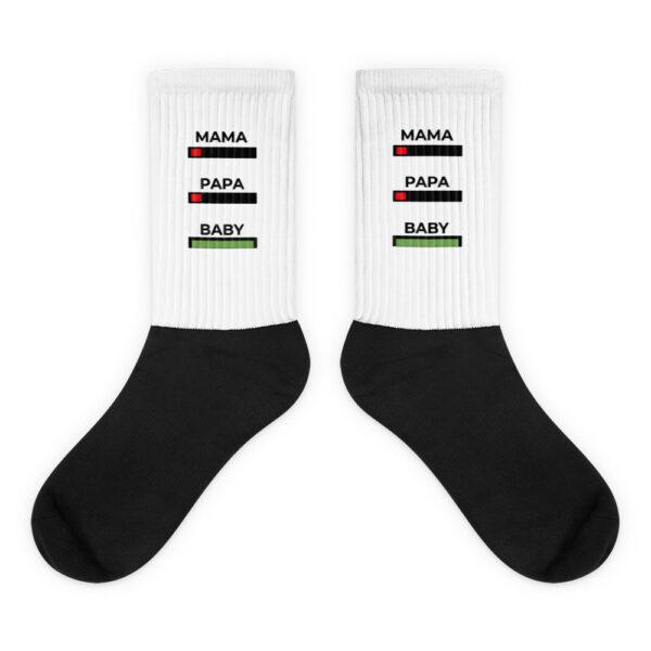 """Socken """"Mama, Papa, Baby, Akku"""""""