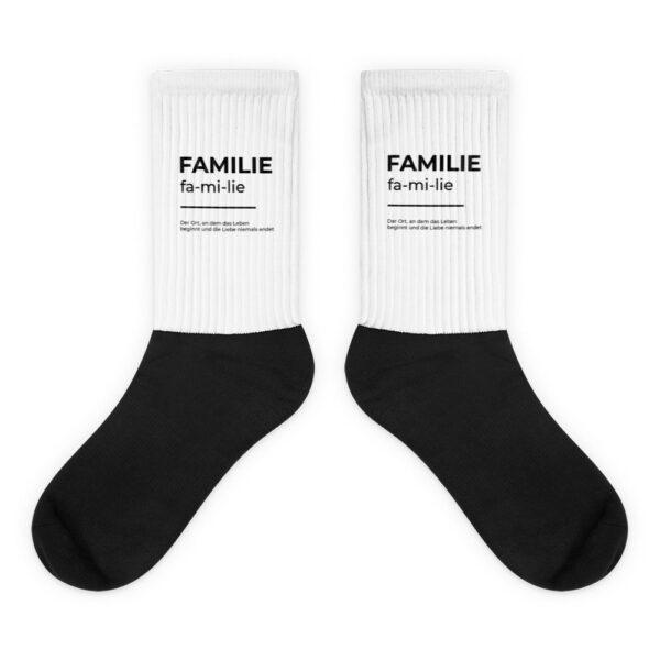 "Socken ""Definition Familie"""