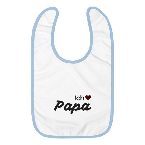 """Besticktes Lätzchen """"Ich liebe Papa"""""""