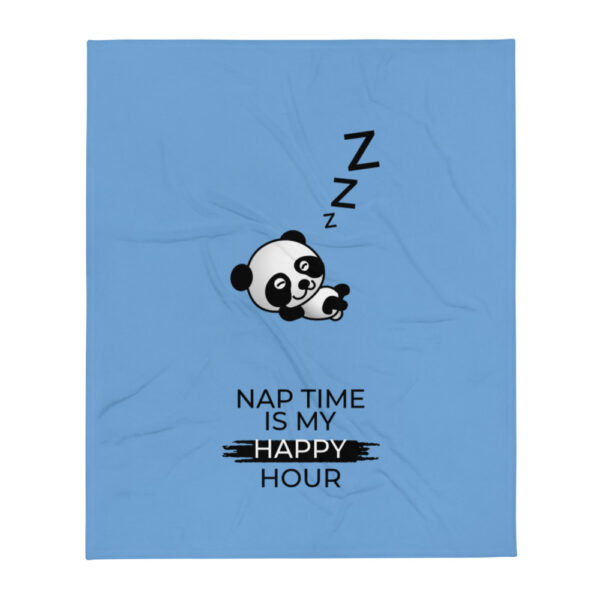 "Babydecke ""Nap time is my happy hour"""