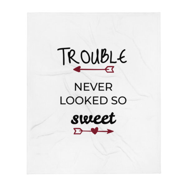 "Babydecke ""Trouble never looked so sweet"""